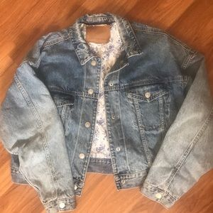 AEO oversized denim jacket